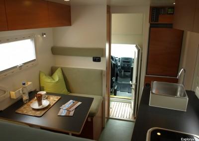 Innenraum-Ansichten Fernreisemobil