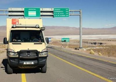 Expeditionsfahrzeug Impala II unterwegs in Südamerika