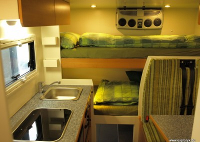 Innenraumansichten Wohnaufbau