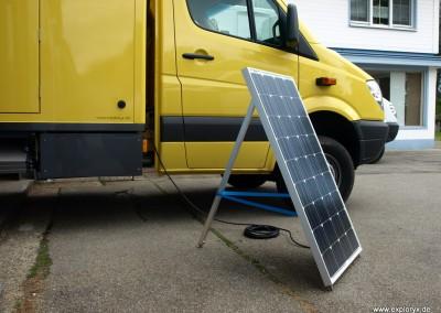 Externes Sonnenpanel zur Stromerzeugung