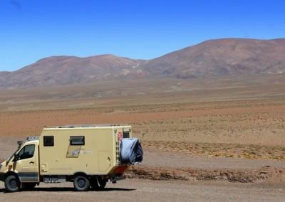 Expeditionsfahrzeug Mercedes Benz in Südamerika