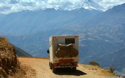 Fantastischer Blick auf die Cordillera Blanca (mit dem peruanischen Matterhorn)