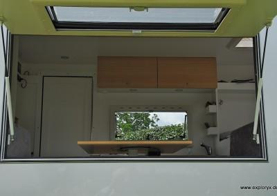 Reisemobil mit Panoramaklappe