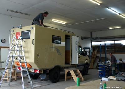 Impressionen aus der Werkstatt eines Expeditionsfahrzeug-Hersteller