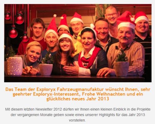 Alle News zu Expeditionsfahrzeugen und Allrad Wohnmobilen von Weihnachten 2012