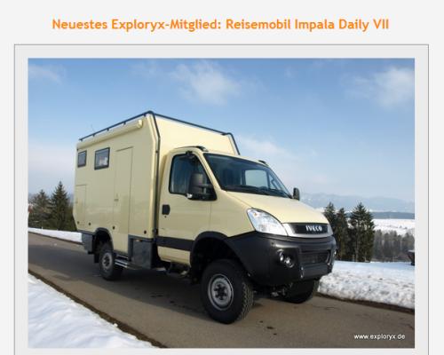 Alle News zu Expeditionsfahrzeugen und Allrad Wohnmobilen von März 2013