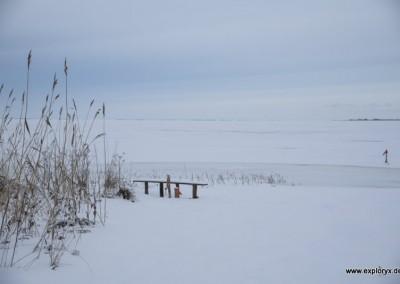 Eis und Schnee soweit das Auge reicht