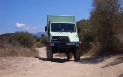 Expeditionsfahrzeug on tour in Korsika