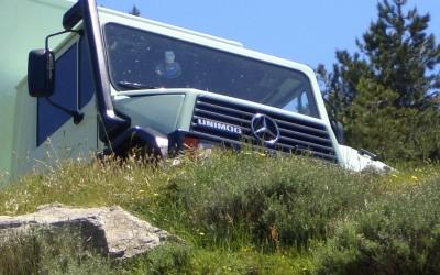 Unimog Expeditionsfahrzeug auf Reisen