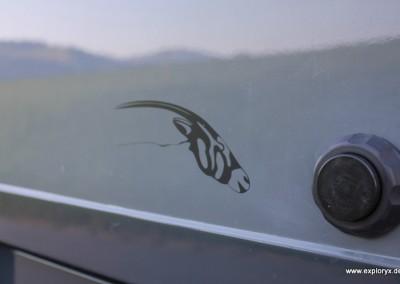 Oryx-Antilope als Markenzeichen von Exploryx