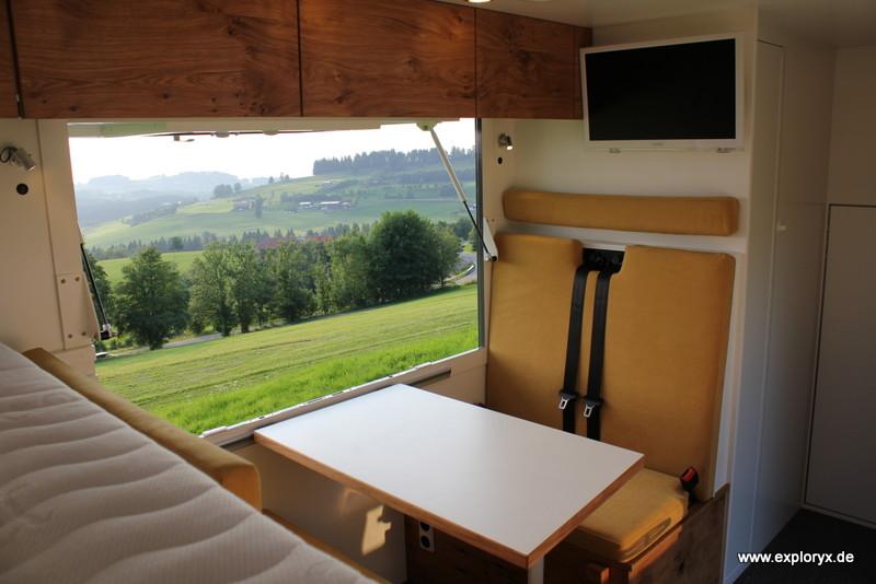 Wohnmobil mit Panoramaklappe