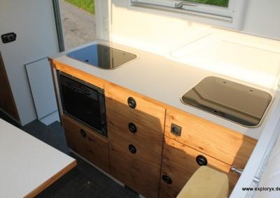 Hochwertige Küche im Reisemobil