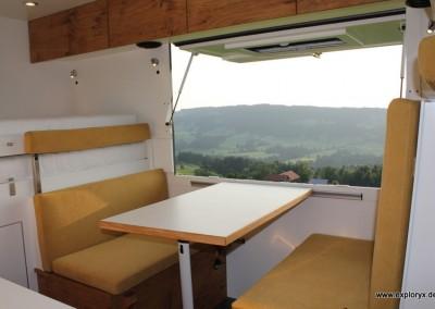 Panoramaklappe im Wohnmobil