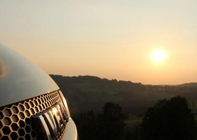 Iveco LKW in der Abendsonne