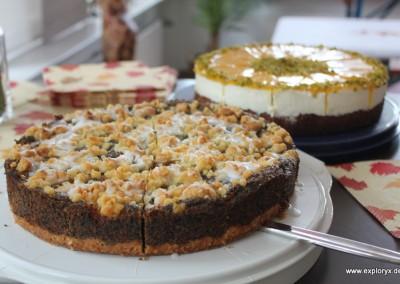 Leckere Kuchen bei Exploryx