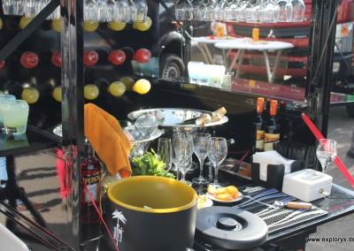 Der Piaggio ist eine Bar geworden