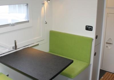 Sitzecke im Wohnmobil