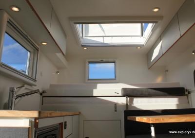 Große Dachklappe im Reisemobil