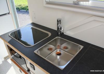 Kücheneinrichtung im Wohnmobil