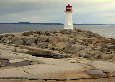 Das Wahrzeichen von Nova Scotia - der Leuchtturm von Peggy's Cove