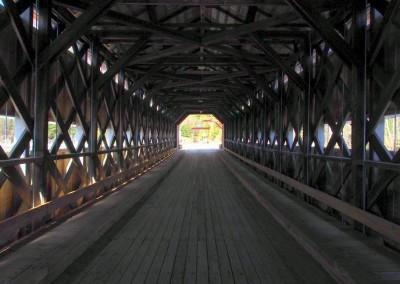 Identische Konstruktion sämtlicher Holzbrücken