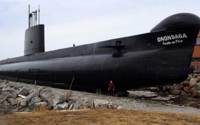 Kanadisches Unterseeboot im Marine-Museum bei Rimouski (am St. Lorenz Strom)