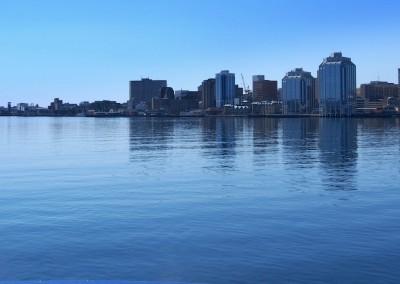 Halifax et le port, vu depuis Dartmore