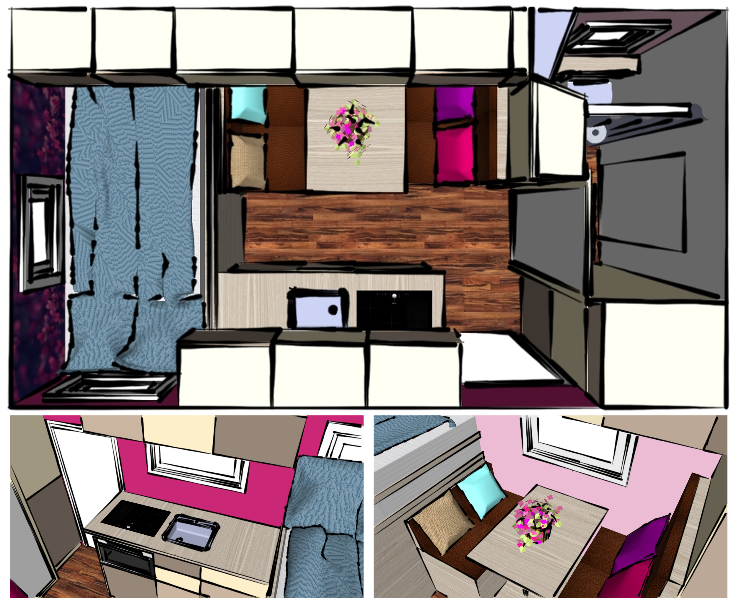 Wohnmobilvariante Innenraum