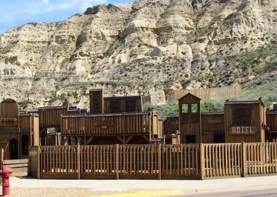 Sogar der Kinderspielplatz in Medora (850 E.) ist im Western-Style konzipiert