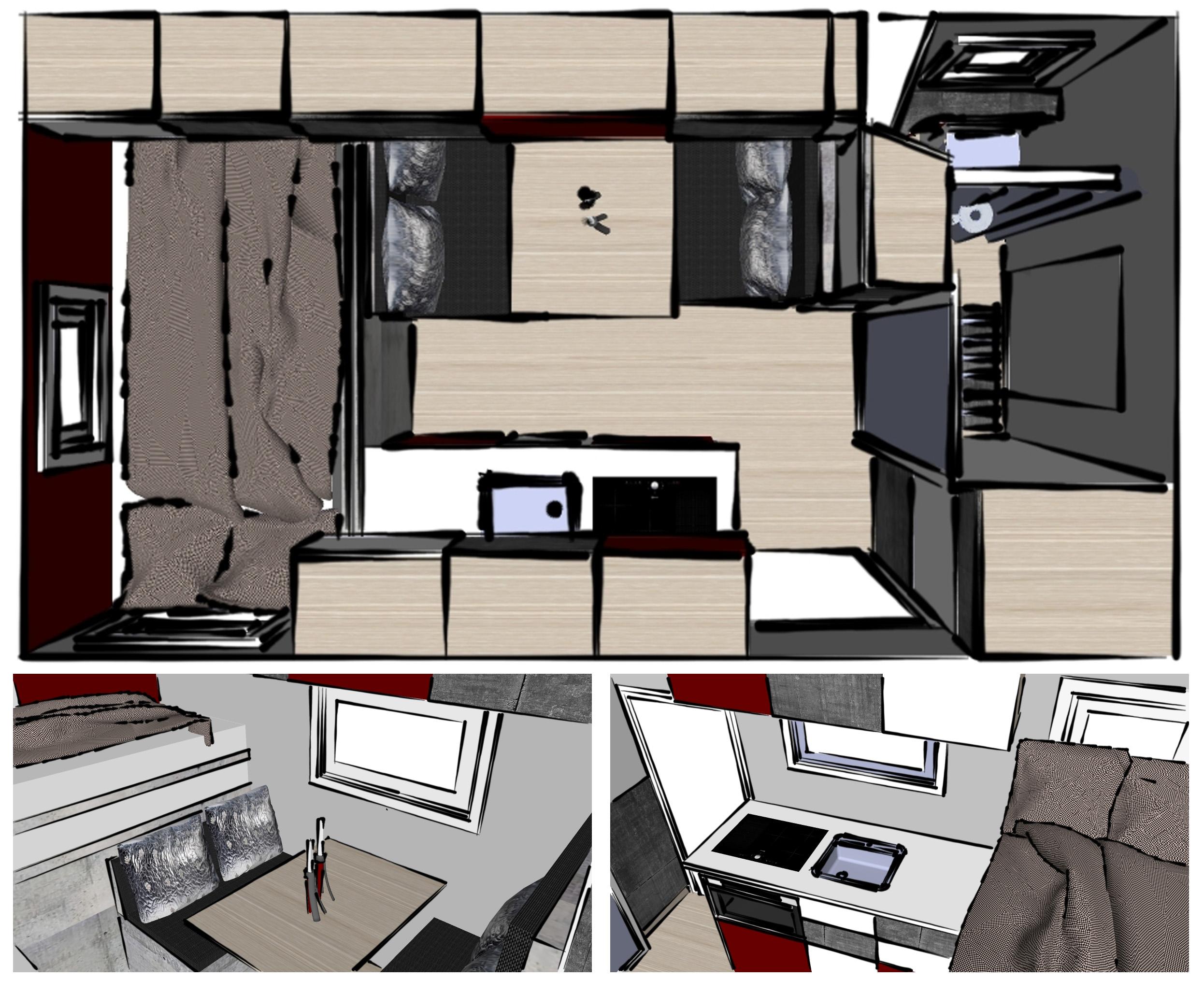 Wohnmobil mit schlichter aber hochwertiger Ausstattung