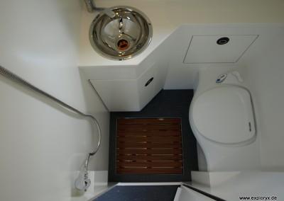 Badausstattung im Wohnmobil