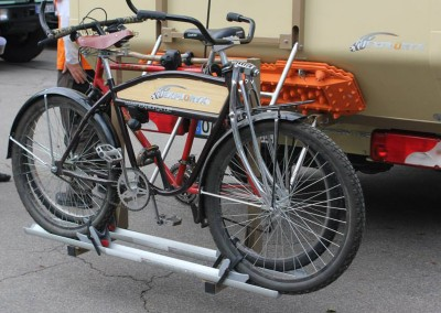 Fahrradhalter für Expeditionsmobile