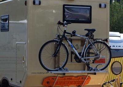 Individueller Fahrradträger für Expeditionsmobile