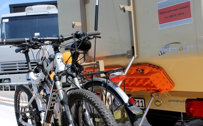 Individueller Fahrradträger für Expeditionsmobile (1)