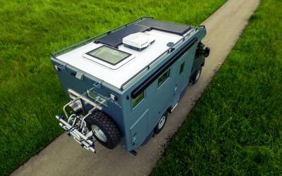 Drohnenaufnahme Expeditionsmobil