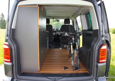 Fahrradhalter im VW-Bus