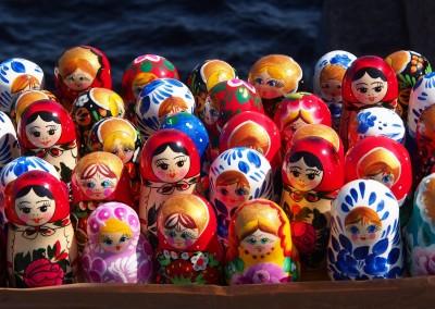 Russland und seine Babuschkas; diese gehören zu den bekanntesten Souvenirs