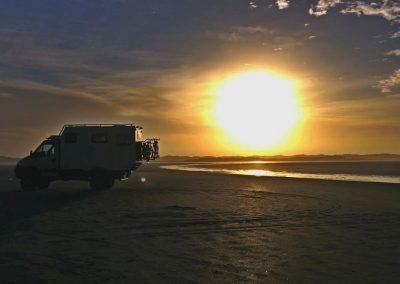 Sonnenuntergang im Mobilheim