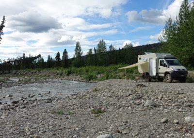 Expeditionsmobil in Alaska