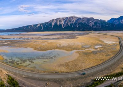 Kluane Lake am Slims River