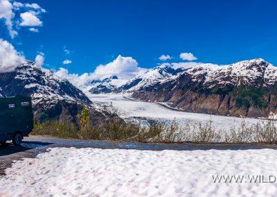 Pausenplatz am Salmon Glacier